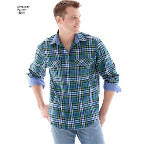 shirt variation pattern men s shirt with fabric variations simplicity