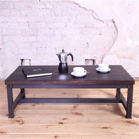 Industrial Style Coffee Tables Sleek Steel Industrial Style Coffee Table By Cosywood Notonthehighstreet