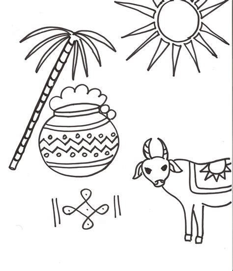 free coloring pages of pongal