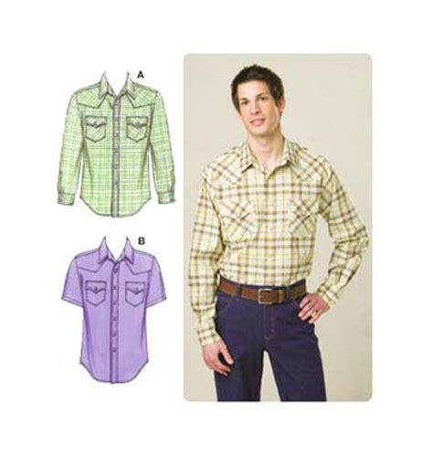 pattern western shirt kwik sew men s western shirt pattern k3506 thinking i