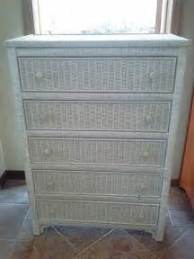 vintage henry link white wicker furniture solid wood
