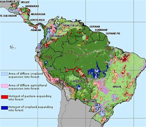 south america deforestation map map projected deforestation in america