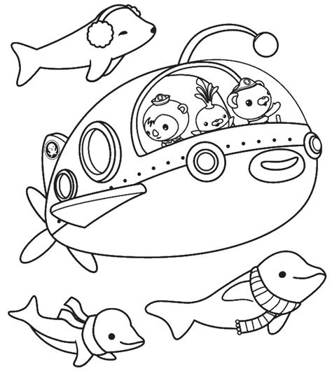 octonauts coloring pages all characters coloring pages