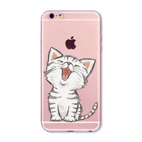 Cat 3d Iphone 5 6 6plus for apple iphone 6 6s 5 5s se 6plus 6splus 5c 4 4s soft