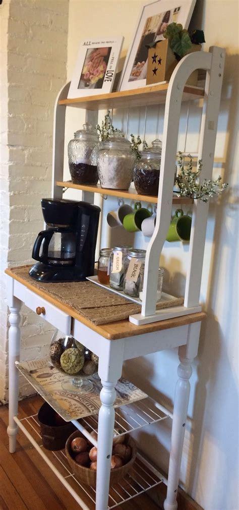 coffee bar tea bar bakers rack coffee bars