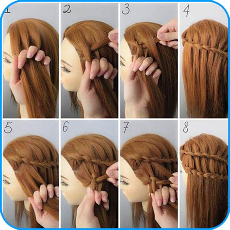 hair style new pic step by step amazon com hairstyle tutorials for girls appstore for