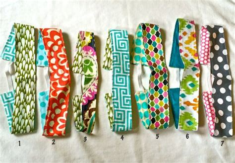 Handmade Fabric Headbands - reversible fabric headbands to raise money for a mission