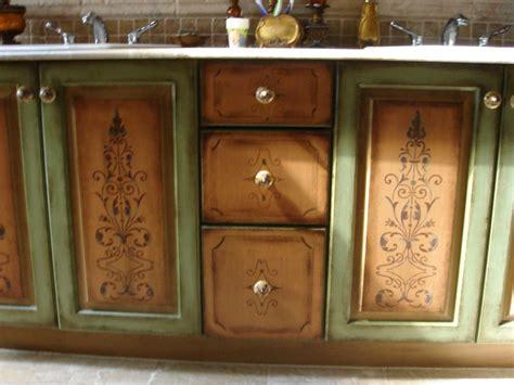 Decorative Handpainted Bathroom Vanity Gina Avino Decorative Bathroom Vanities
