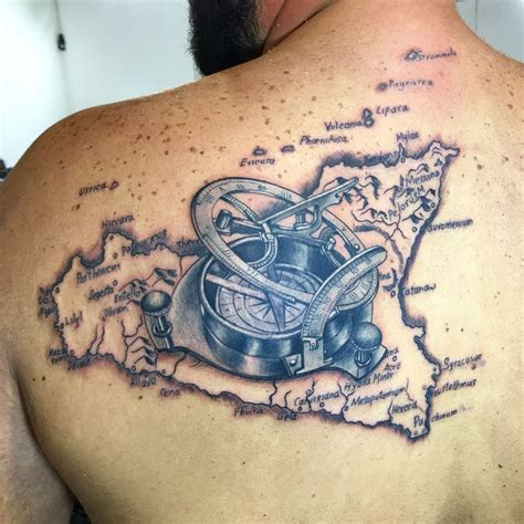 sicilian tattoo designs sicily map compass compass sicilia