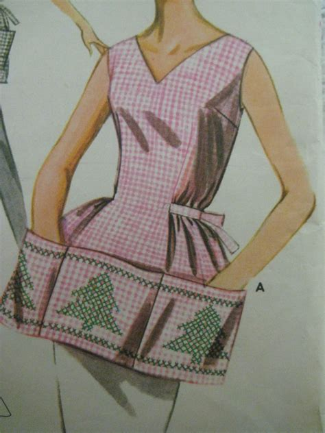 vintage apron pattern uk vintage butterick 9982 gingham cross stitch apron sewing