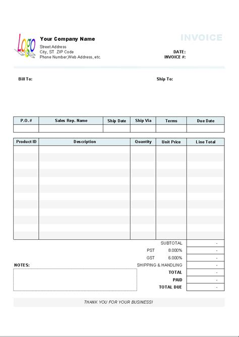 business invoices templates business invoice template exle masir