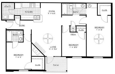 3 bedroom country floor plan floor plan of house 3 bedroom house floor plans