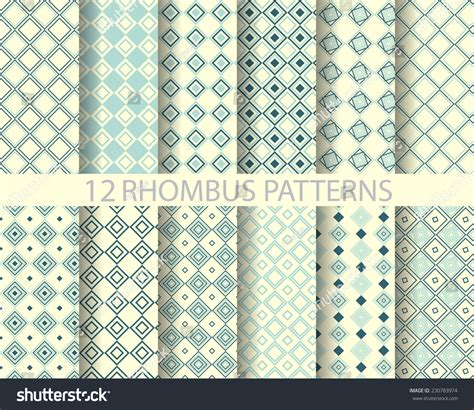 texture pattern swatches 12 rhombus seamless patterns pattern swatches stock vector