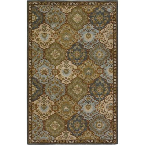 15 x 18 rug home decorators collection menton gold blue 15 ft x 18 ft area rug 8768156910 the home depot