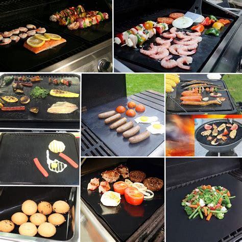 Kertas Lapisan Panggangan Bbq Grill Mat Reusable 100x40cm non stick bbq grill mat barbecue cake baking mats at banggood