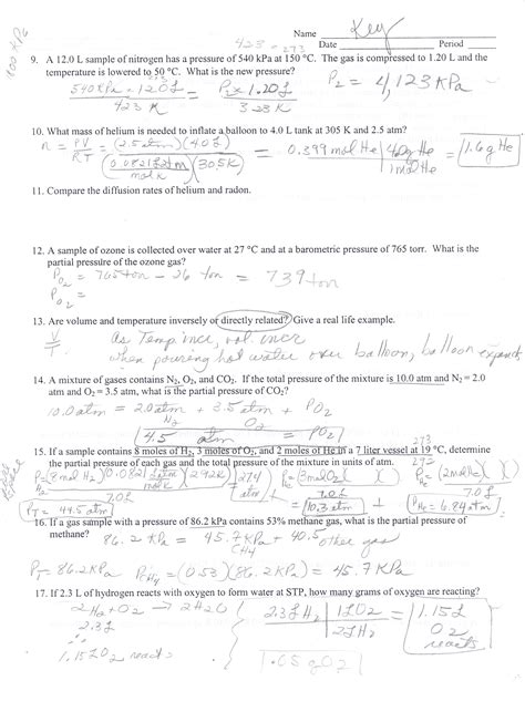 Chemistry Gas Laws Worksheet Answers by Worksheets Molarity Pogil Answer Key Opossumsoft