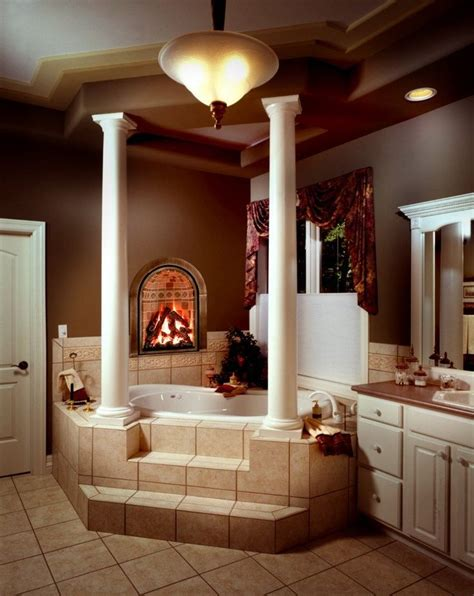 fireplace bathroom gorgeous bathrooms with fireplace kitchens bathrooms