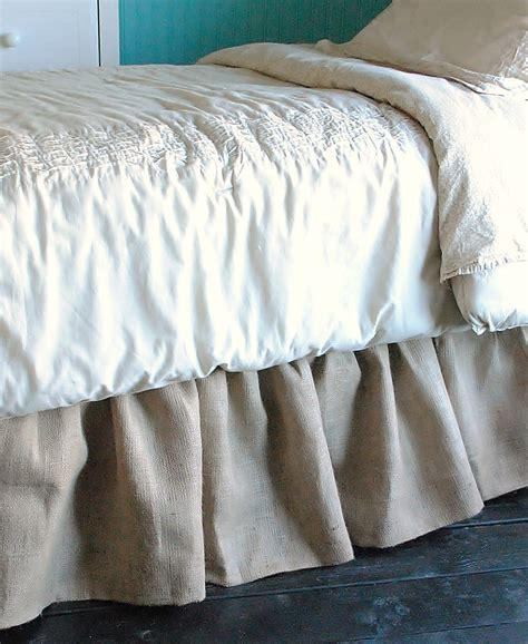 full bed skirt burlap bed skirt twin and full by paulaanderika on etsy