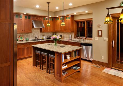 Rambler Style Home by Craftsman Home Craftsman Kitchen Columbus By