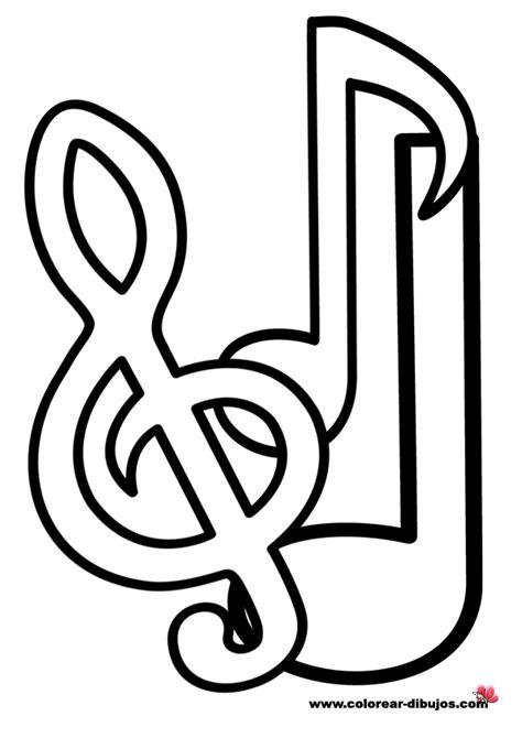 imagenes notas musicales para colorear dibujos de notas musicales grandes imagui