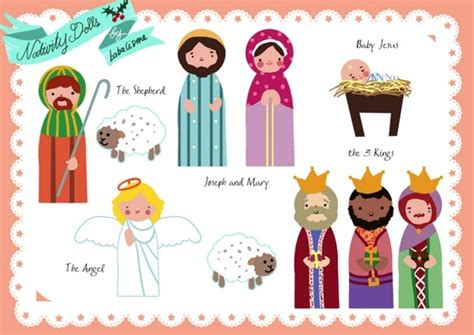 printable nativity scene puppets his heart of compassion printable nativity playsets and