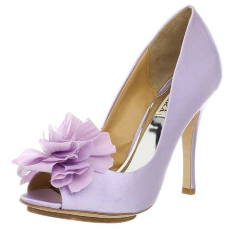 Lilac Shoes For Wedding by Badgley Mischka Lilac High Heels Platform