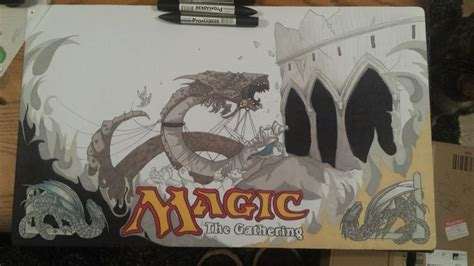 custom magic the gathering play mat by kirstie1988 on