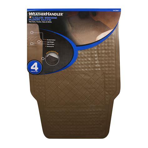 weatherhandler tan 4pc basic rubber floor mat set
