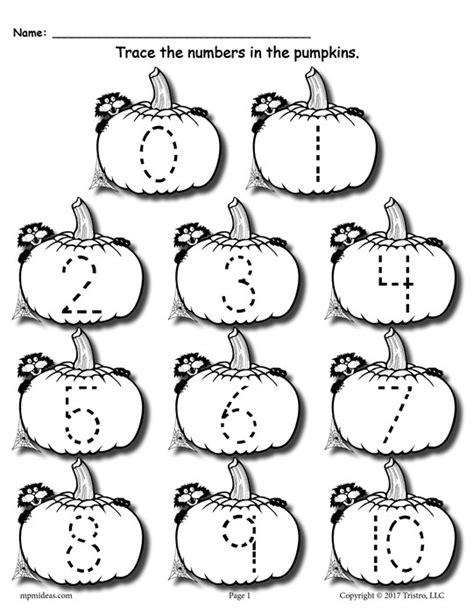 printable tracing pumpkins free printable pumpkin number tracing worksheets 1 20