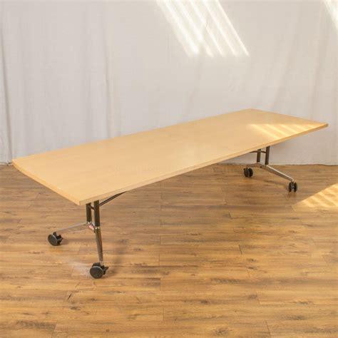 Folding Boardroom Tables Wilkhahn Confair Maple Veneer 2900x1000 Fold Up Boardroom Table