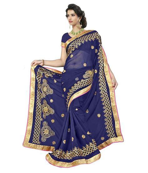 Kamala Navy kamal sarees navy chiffon saree buy kamal sarees