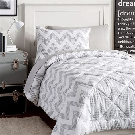 zig zag bedding zig zag stripe deluxe value comforter set pbteen