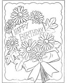 bluebonkers birthday present coloring page sheets birthday card free printable