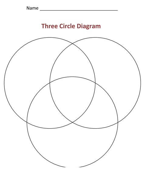 venn diagram 3 circles worksheet three ring venn diagram template three line template