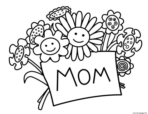printable flowers mother s day printable mothers day flowers coloring pages printable