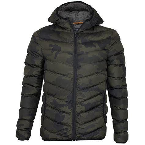 Camo Padded Jacket mens brave soul grantcamo camo camouflage coat