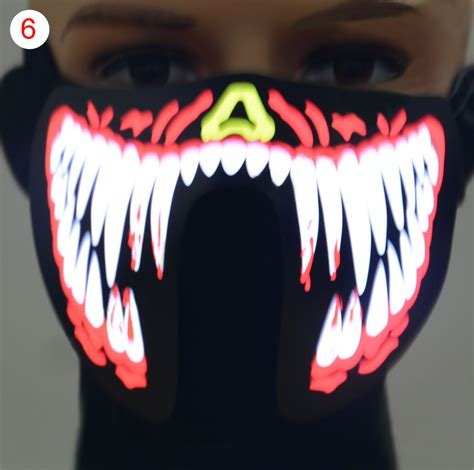 light mask mask led light up costume