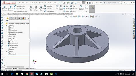 solidworks circular pattern 2 solidworks linear pattern circular pattern and rib