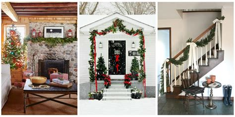 ways to decorate your home for christmas 55 best christmas garland ideas decorating with holiday