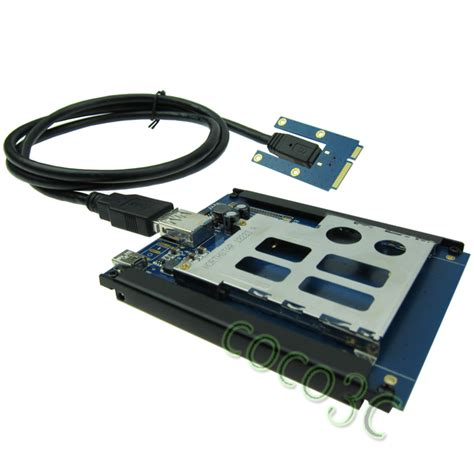 Half Com Gift Card - half full size mini pcie usb 2 0 to expresscard 54 34 slot adapter pci express