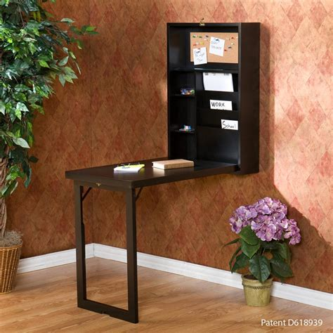 sei black fold out convertible desk home