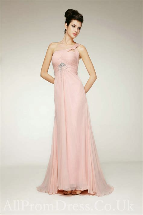 Light Pink Homecoming Dresses by One Shoulder Light Pink Prom Dresses Www Imgkid