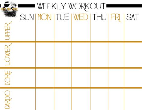 workout sheet basic workout plus free printable workout sheet