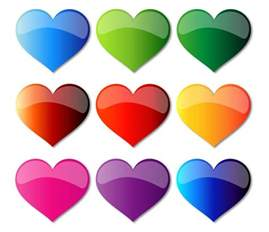 colorful hearts free colorful glass hearts free vector graphics all