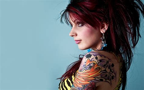 tattoo girl hd image tattooed women wallpaper