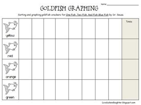 printable goldfish graph goldfish graph for kindergarten free classroom pinterest