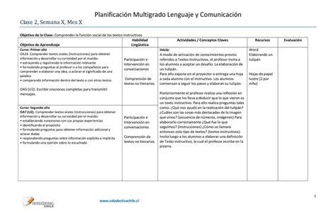 textos instructivos con preguntas de comprension calam 233 o planificaci 243 n multigrado clase 2
