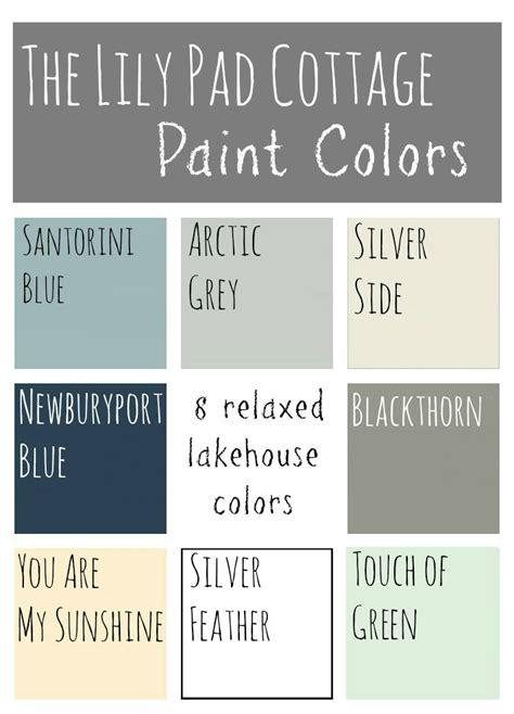 Cottage Paint Color Schemes by Paint Colors 8 Relaxed Lake House Colors The