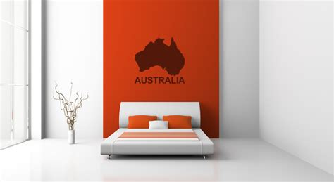 wall stickers australia australia map silhouette wall sticker wall decal