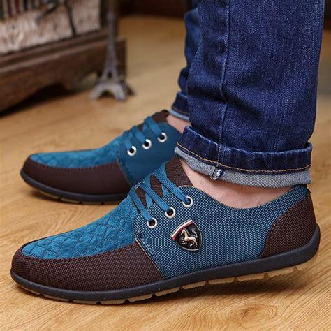 lace up color block shoes wholesale lace up color block casual shoes 44 blue
